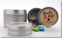Ready To Pop Brown - Custom Baby Shower Favor Tins