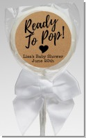 Ready To Pop Brown - Personalized Baby Shower Lollipop Favors