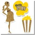 About To Pop Gold Glitter - Baby Shower Printed Shaped Cut-Outs thumbnail