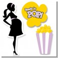 Ready To Pop Purple - Baby Shower Printed Shaped Cut-Outs thumbnail