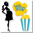 Ready To Pop Teal - Baby Shower Printed Shaped Cut-Outs thumbnail