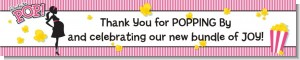 Ready To Pop Dark Pink - Personalized Baby Shower Banners