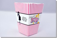 Ready To Pop Dark Pink - Personalized Baby Shower Popcorn Boxes