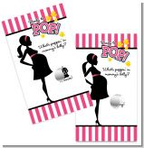 Ready To Pop Dark Pink - Baby Shower Scratch Off Game Tickets