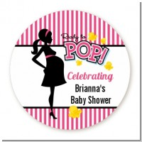 Ready To Pop Dark Pink - Personalized Baby Shower Table Confetti