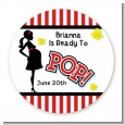 Ready To Pop - Round Personalized Baby Shower Sticker Labels thumbnail