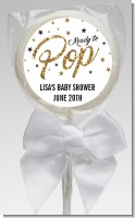 Ready To Pop Gold Glitter - Personalized Baby Shower Lollipop Favors