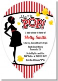 Ready To Pop - Baby Shower Shaped Invitations