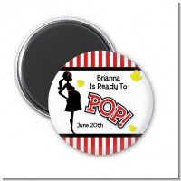 Ready To Pop - Personalized Baby Shower Magnet Favors