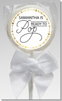 Ready To Pop Metallic Dots - Personalized Baby Shower Lollipop Favors