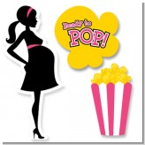 Ready To Pop Dark Pink - Baby Shower Printed Shaped Cut-Outs