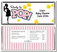 Ready To Pop Pink - Personalized Baby Shower Candy Bar Wrappers