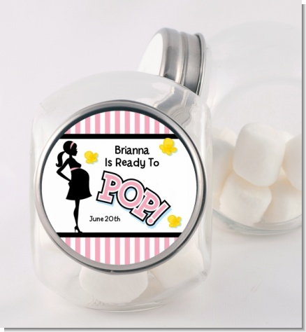 Ready To Pop Pink - Personalized Baby Shower Candy Jar