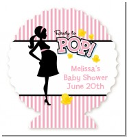 Ready To Pop Pink - Personalized Baby Shower Centerpiece Stand