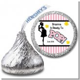 Ready To Pop Pink - Hershey Kiss Baby Shower Sticker Labels