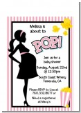 Ready To Pop Pink - Baby Shower Petite Invitations