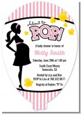 Ready To Pop Pink - Baby Shower Shaped Invitations