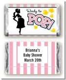 Ready To Pop Pink - Personalized Baby Shower Mini Candy Bar Wrappers