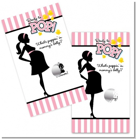 Ready To Pop Pink - Baby Shower Scratch Off Game Tickets