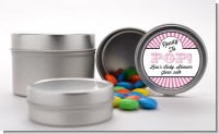 Ready To Pop Pink Stripes - Custom Baby Shower Favor Tins