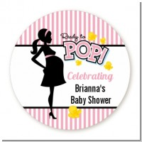Ready To Pop Pink - Personalized Baby Shower Table Confetti