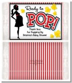 Ready To Pop - Personalized Popcorn Wrapper Baby Shower Favors