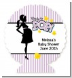 Ready To Pop Purple - Personalized Baby Shower Centerpiece Stand thumbnail