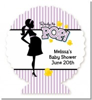 Ready To Pop Purple - Personalized Baby Shower Centerpiece Stand