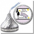 Ready To Pop Purple - Hershey Kiss Baby Shower Sticker Labels thumbnail