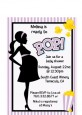 Ready To Pop Purple - Baby Shower Petite Invitations thumbnail