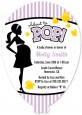 Ready To Pop Purple - Baby Shower Shaped Invitations thumbnail