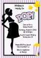 Ready To Pop Purple - Baby Shower Invitations thumbnail