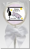 Ready To Pop Purple - Personalized Baby Shower Lollipop Favors