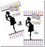 Ready To Pop Purple - Baby Shower Scratch Off Game Tickets