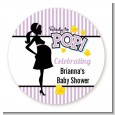 Ready To Pop Purple - Personalized Baby Shower Table Confetti thumbnail