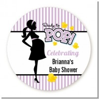 Ready To Pop Purple - Personalized Baby Shower Table Confetti