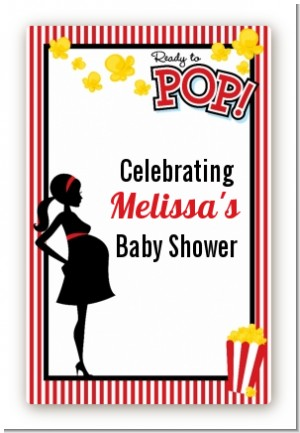 Ready To Pop - Custom Large Rectangle Baby Shower Sticker/Labels