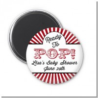 Ready To Pop Red - Personalized Baby Shower Magnet Favors