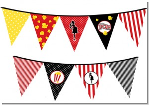 Ready To Pop - Baby Shower Themed Pennant Set