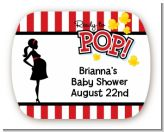 Ready To Pop - Personalized Baby Shower Rounded Corner Stickers