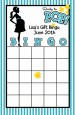Ready To Pop Teal - Baby Shower Gift Bingo Game Card thumbnail