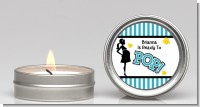 Ready To Pop Teal - Baby Shower Candle Favors