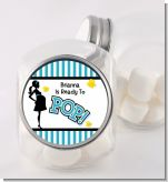 Ready To Pop Teal - Personalized Baby Shower Candy Jar