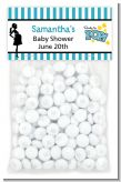 Ready To Pop Teal - Custom Baby Shower Treat Bag Topper
