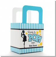 Ready To Pop Teal - Personalized Baby Shower Favor Boxes