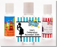 Ready To Pop Teal - Personalized Baby Shower Hand Sanitizers Favors