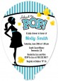 Ready To Pop Teal - Baby Shower Shaped Invitations thumbnail