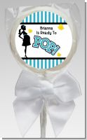 Ready To Pop Teal - Personalized Baby Shower Lollipop Favors