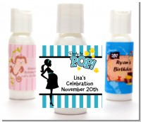 Ready To Pop Teal - Personalized Baby Shower Lotion Favors