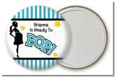 Ready To Pop Teal - Personalized Baby Shower Pocket Mirror Favors